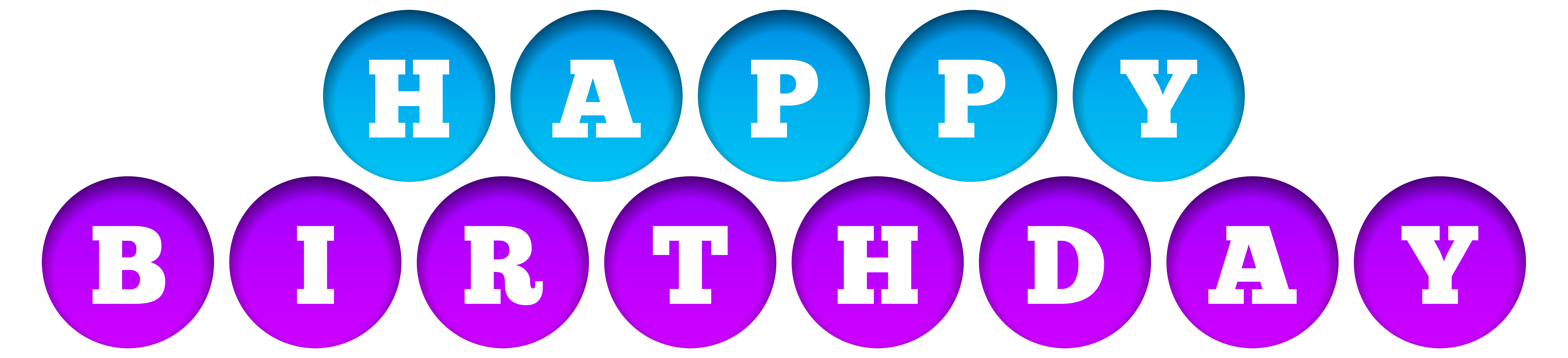 Clipart birthday blue. Happy purple and transparent