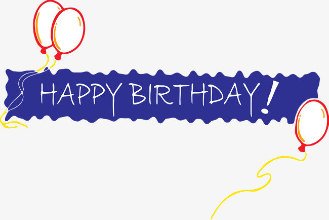 Blue clipart happy birthday. Banner blessing png image