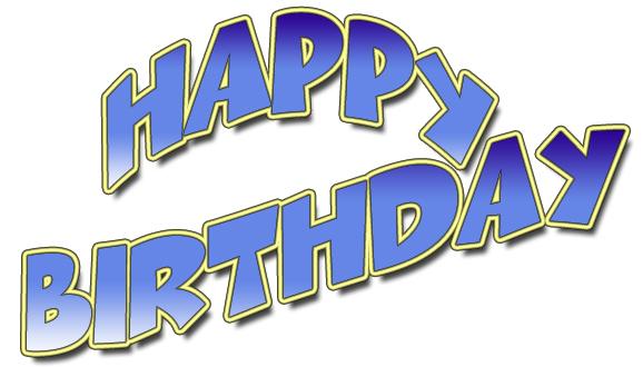 Blue clipart happy birthday. All free original clip