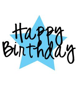 Free and graphics to. Blue clipart happy birthday