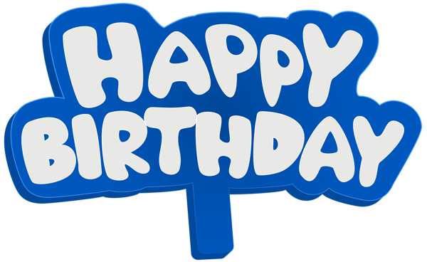 Sign png clip art. Blue clipart happy birthday