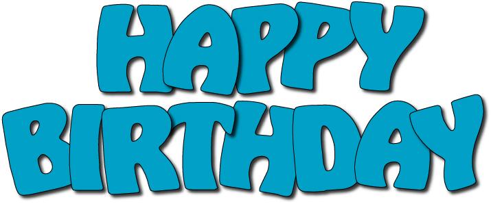 . Blue clipart happy birthday
