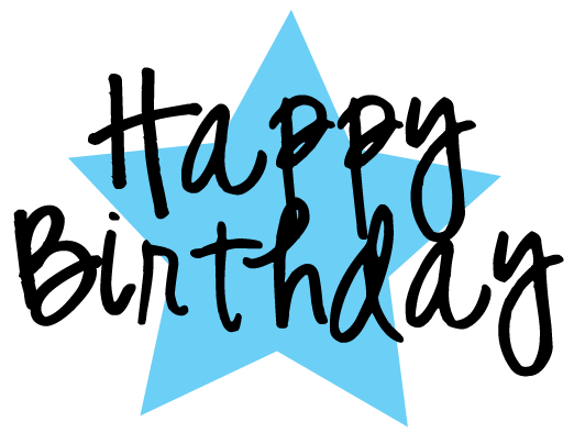 Blue clipart happy birthday. Free and graphics to