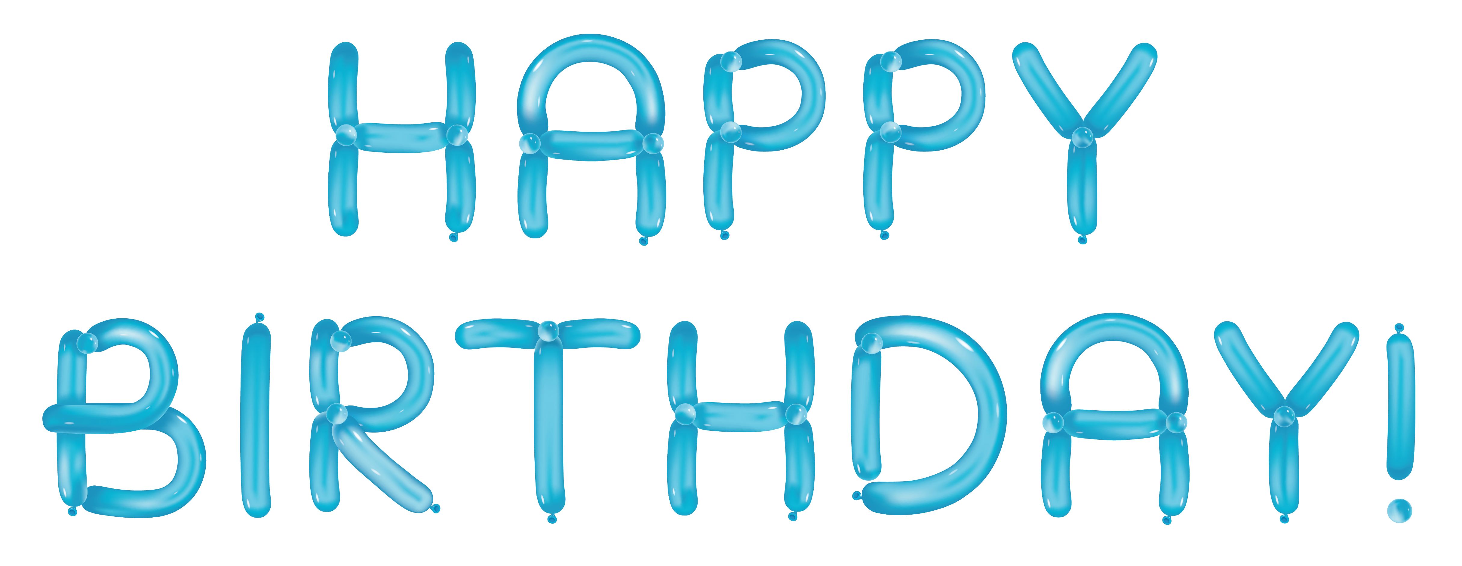 Happy with balloons transparent. Clipart birthday blue