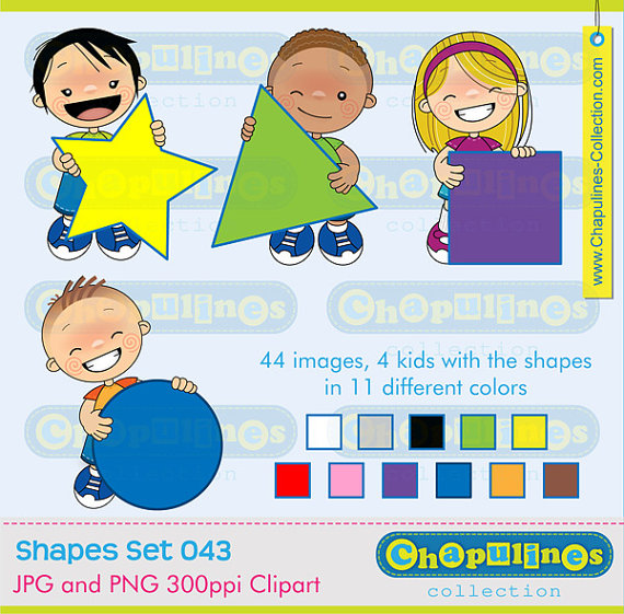 Blue clipart kid. Kids and geometric shapes