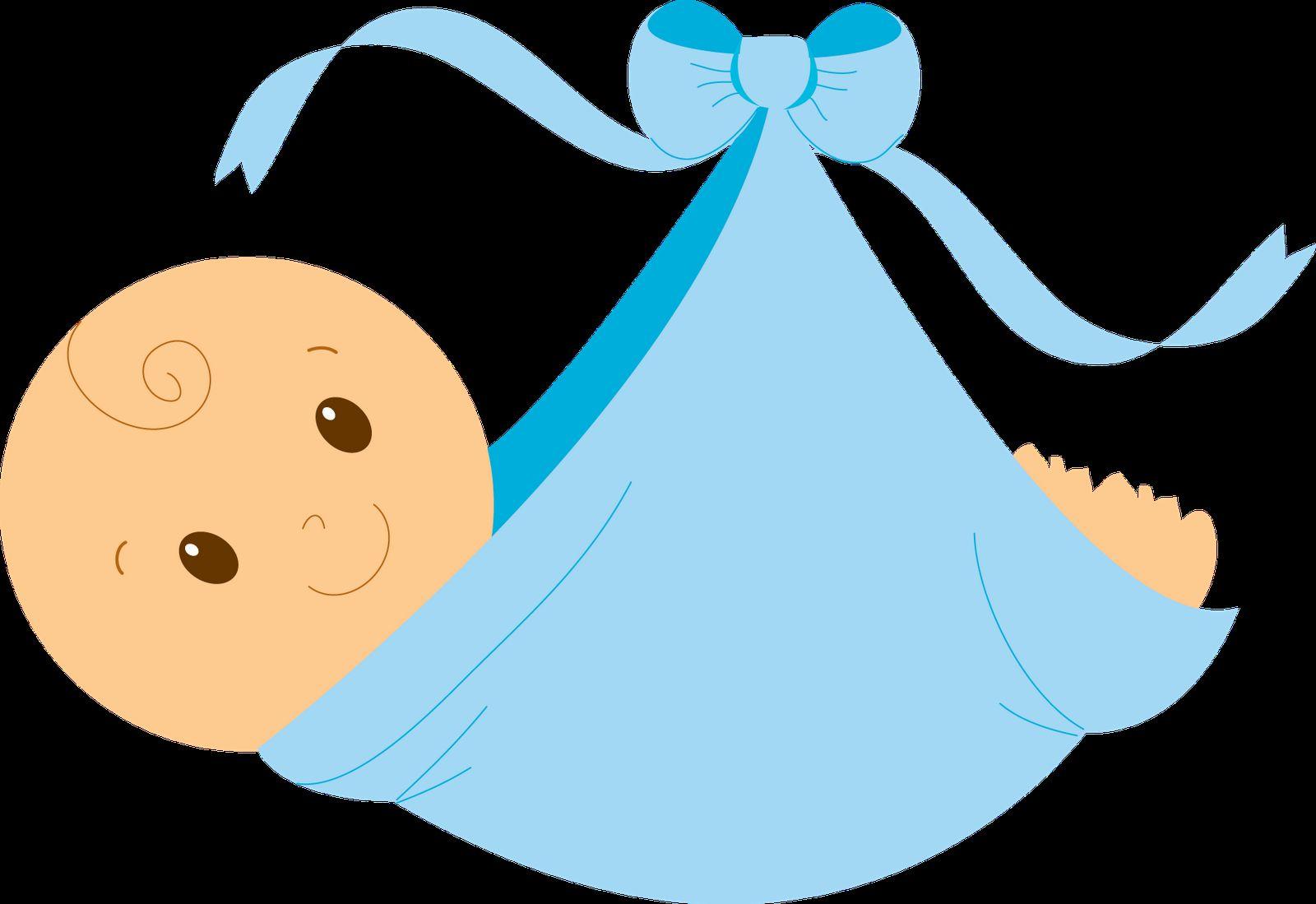 blue clipart kid