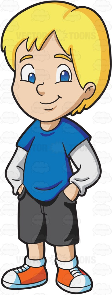 Boy blond clip art. Blue clipart kid