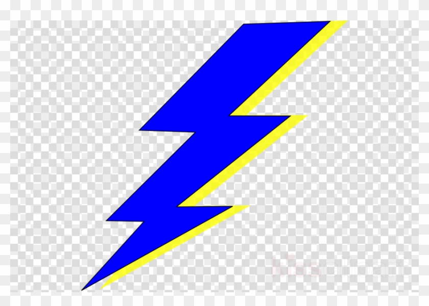 Blue and yellow bolt. Electric clipart lightning flash