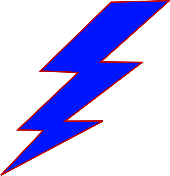 Blue lightning bolt clip. Electric clipart lighting storm
