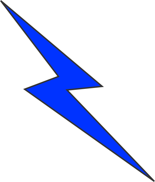 Blue clip art at. Lightning clipart large