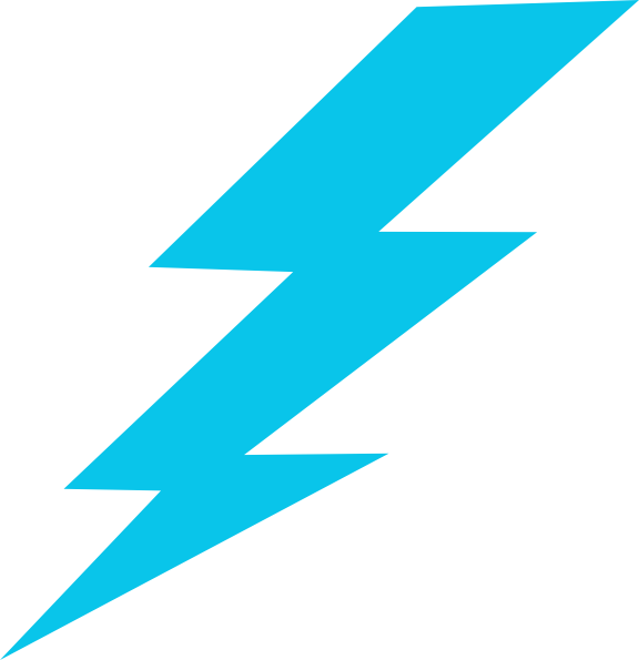 Electric clipart electric spark. Blue lightning bolt clip