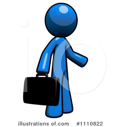 Blue clipart man. Illustration by leo blanchette