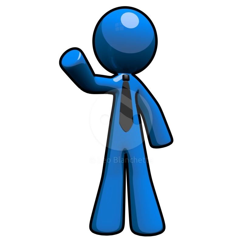Blue clipart man.  d professional with