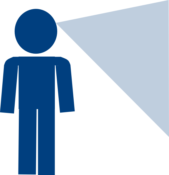 Sign blue looking clip. Person clipart man