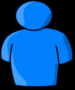 Clip art at clker. Blue clipart man