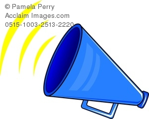Clip art image of. Blue clipart megaphone
