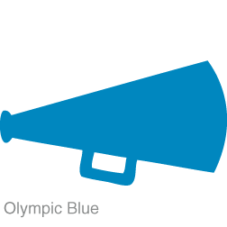 Cheer free images clipartix. Blue clipart megaphone