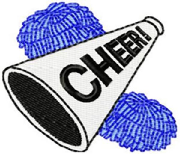 Blue clipart megaphone. Cheer panda free images