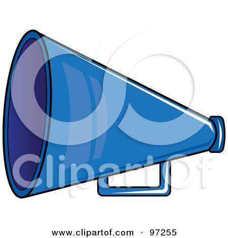 Cheer panda free images. Blue clipart megaphone