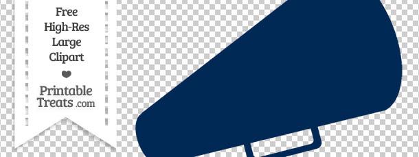 Blue clipart megaphone. Navy cheer printable treats
