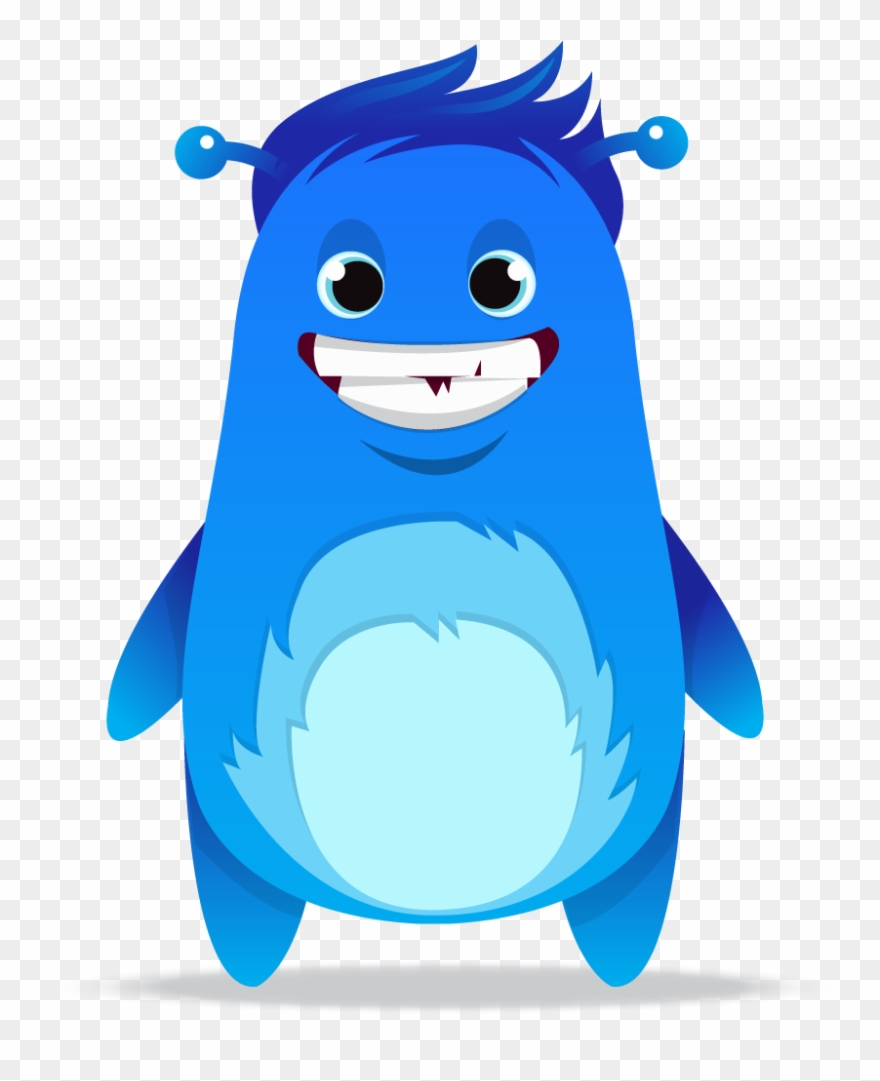 Y kle one monster. Blue clipart monsters