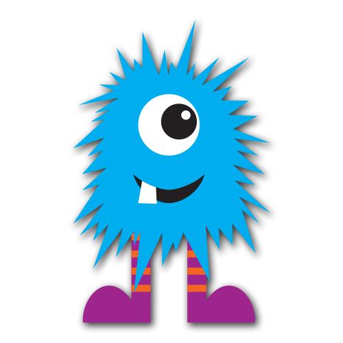 Monster clip art free. Blue clipart monsters