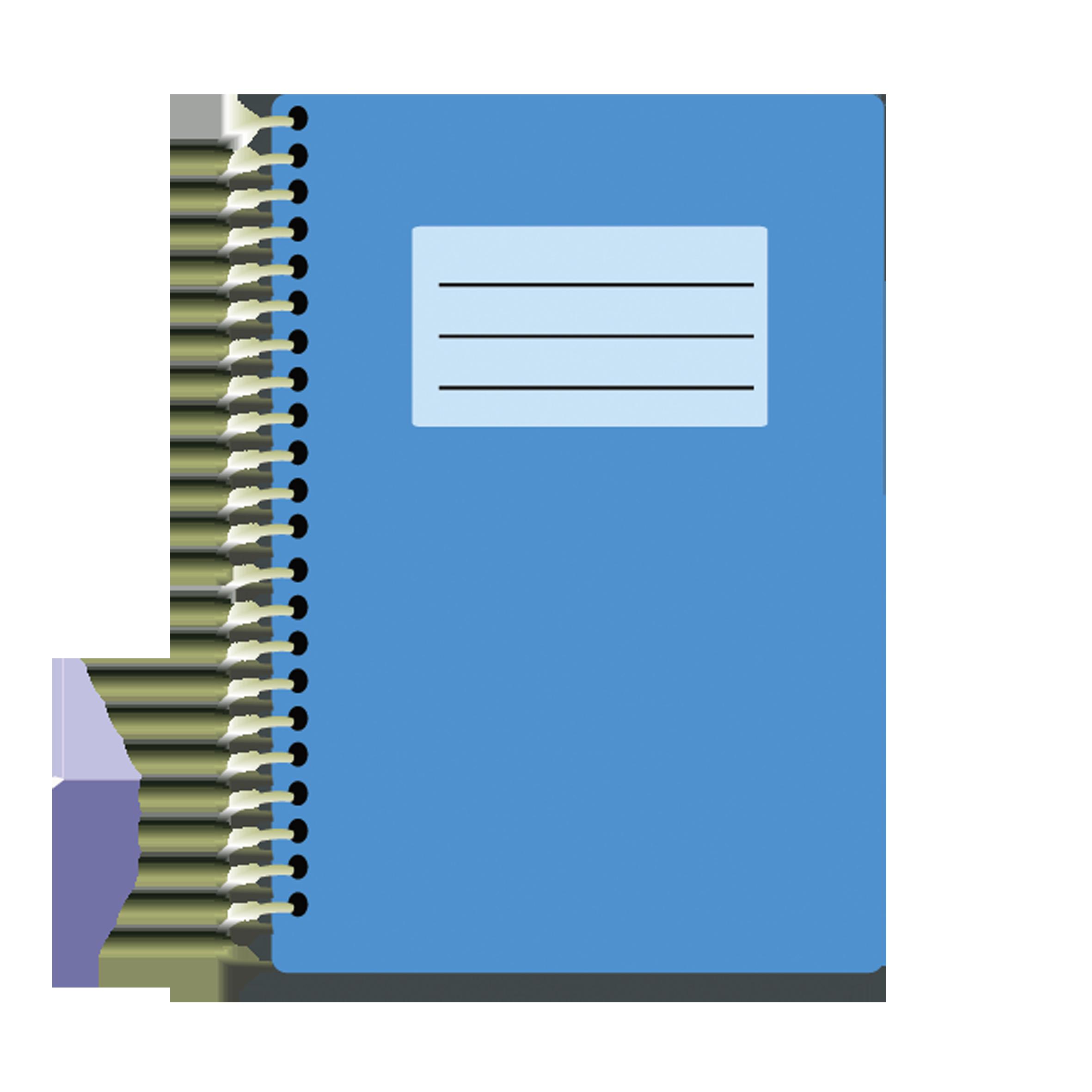 Adobe illustrator png download. Notebook clipart blue notebook