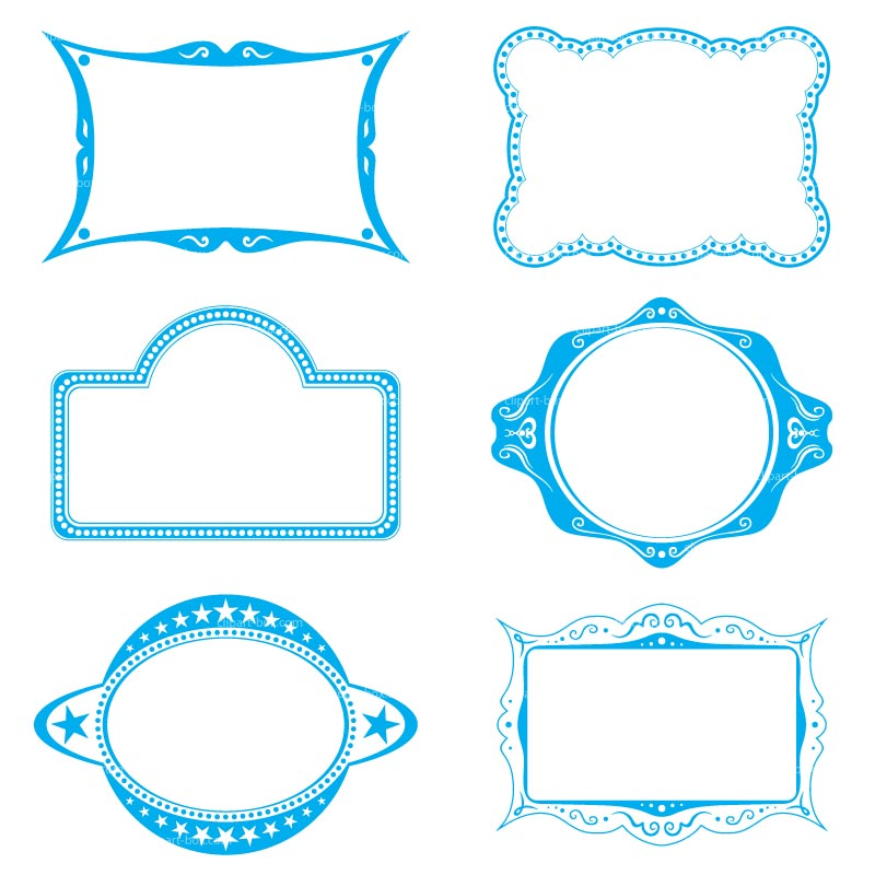 Blue clipart picture frame. Free cliparts download clip