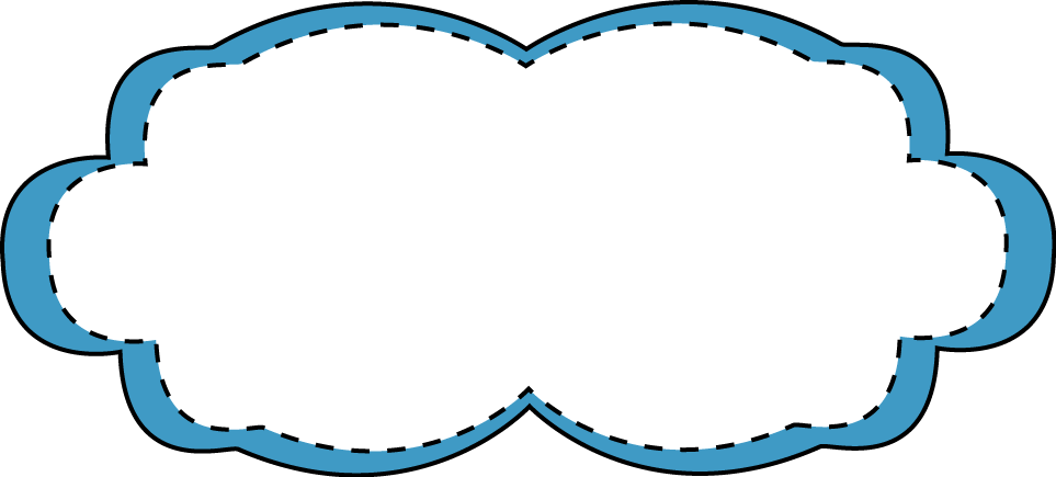 Frame clipart cute. Blue stitched free clip