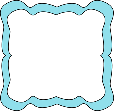 Light curvy clip art. Blue clipart picture frame