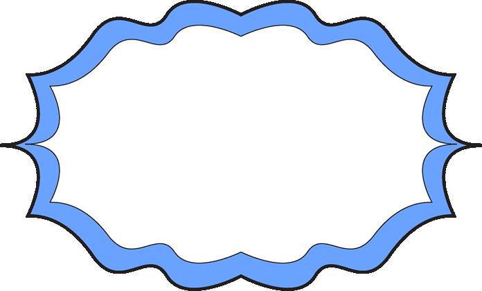 Blue clipart picture frame. Fancy free clip art
