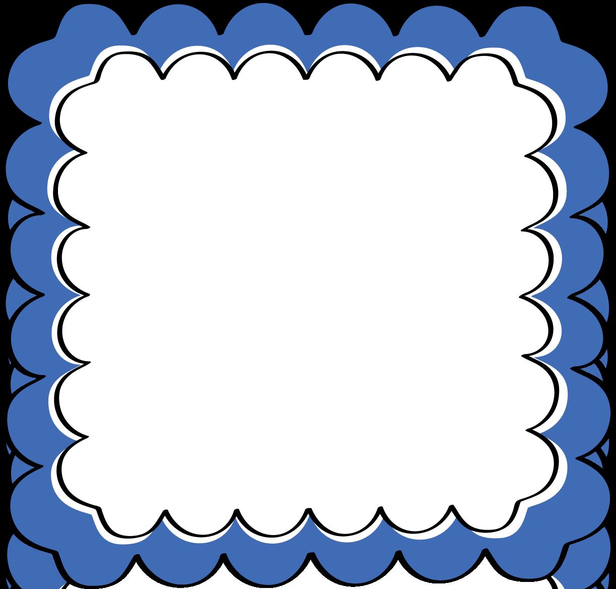 . Frame clipart blue