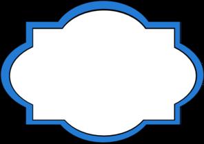 Blue frame clip art. Label clipart