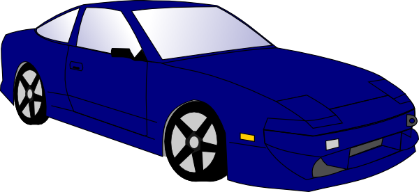 Blue race car clip. Cars clipart vector