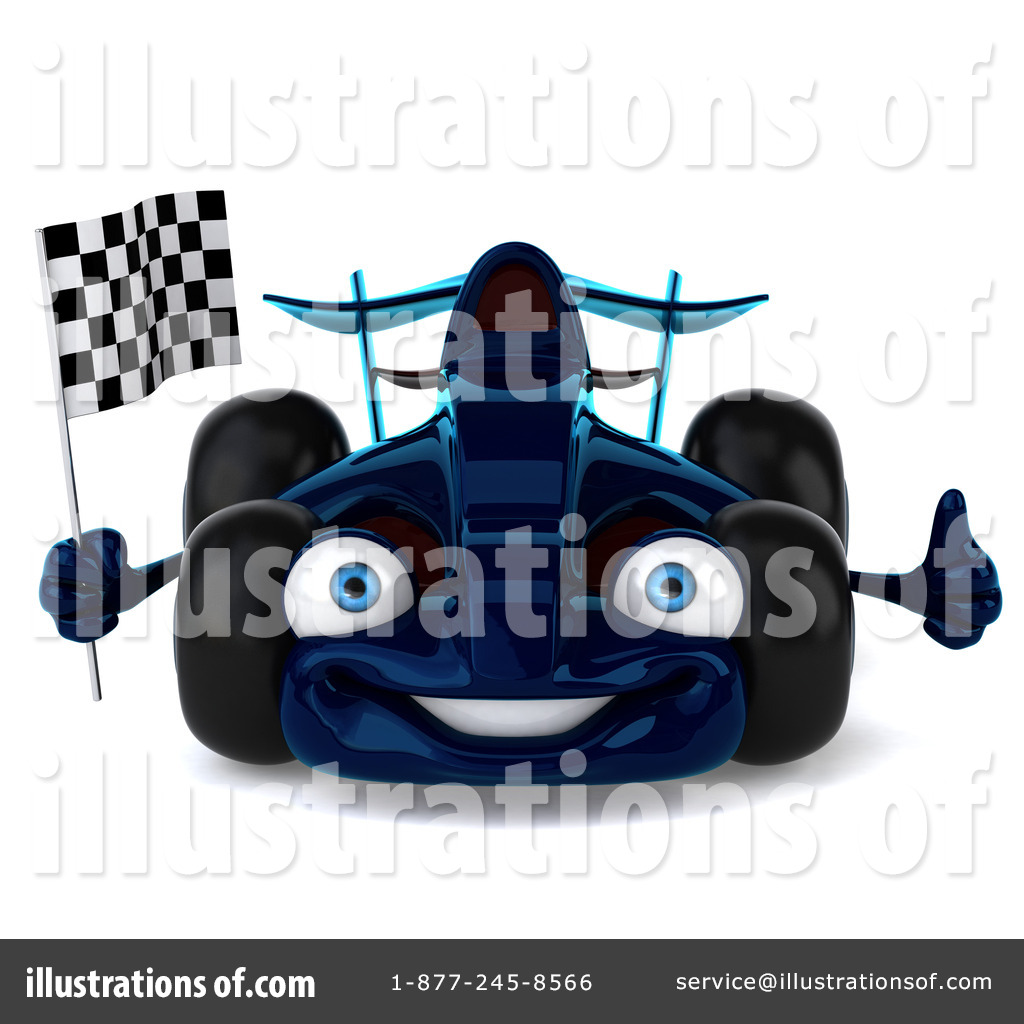 Illustration by julos royaltyfree. Blue clipart race car