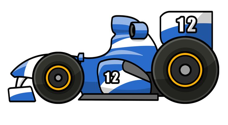 best cars images. Blue clipart race car