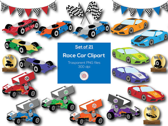 Blue clipart race car. Cars clip art digital