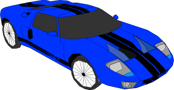 collection of high. Blue clipart race car