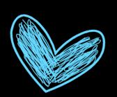 Heart clip art images. Blue clipart scribble