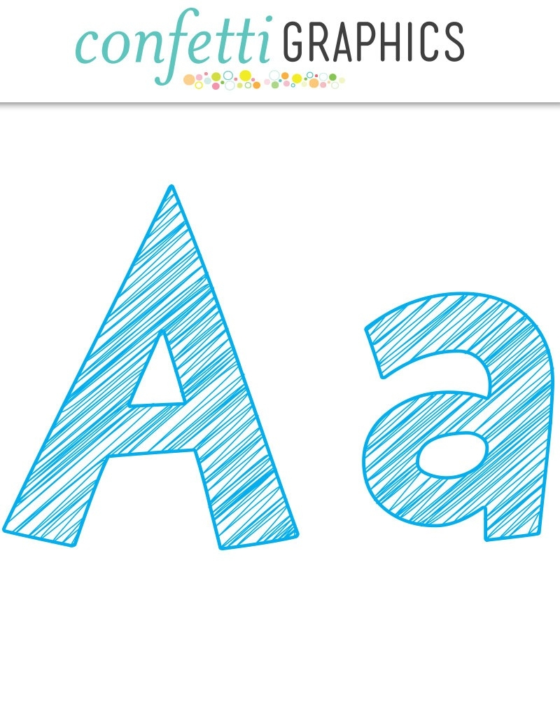 Lowercase letter a master. Blue clipart scribble