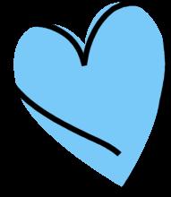 Blue clipart scribble. Heart clip art images
