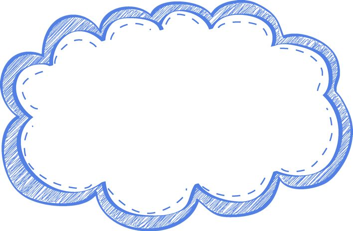Blue clipart scribble. Cloud panda free images