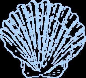 Blue clipart seashell. Shell clip art black