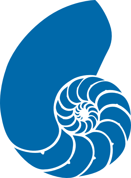 Blue clipart seashell. Green and nautilus shell
