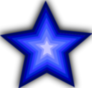 . Blue clipart shooting star