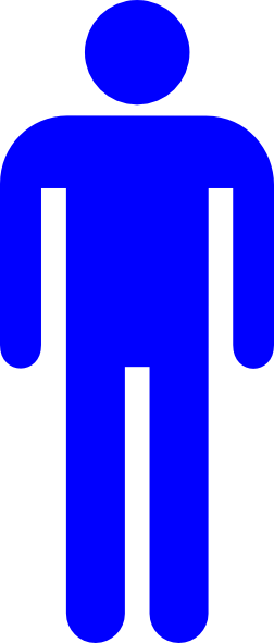 Blue clipart stick figure. Male silhouette clip art