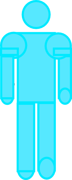 blue clipart stick figure