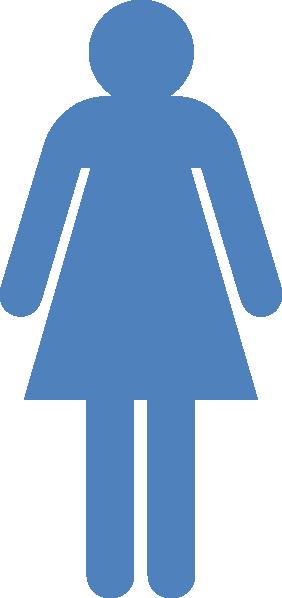 Blue clipart stick figure. Girl clip art at