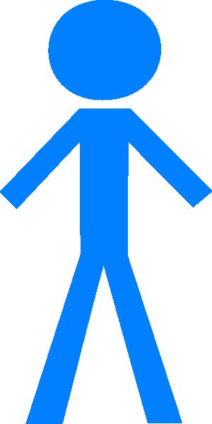 blue clipart stick figure