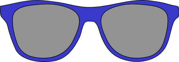 . Blue clipart sunglasses